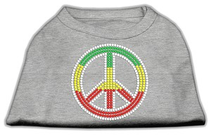 Rasta Peace Sign Shirts Grey L (14)